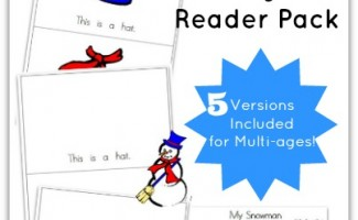 Snowman Emergent Reader Pack