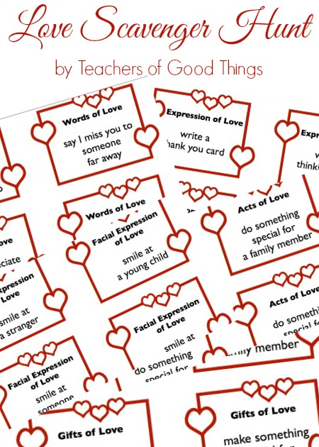 Free Printable Love Scavenger Hunt For Families Free