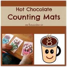 Free Printable Counting Mats: Hot Chocolate Math