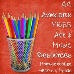 Homeschooling Resources: 44 Free Awesome Online Art & Music Freebies
