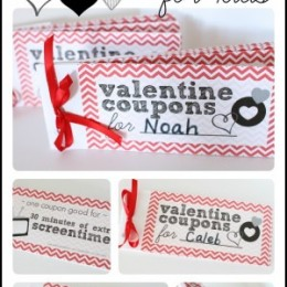 Free Valentines Day Coupon Book for Kids