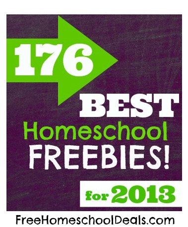 176 Best Homeschool Freebies & More for 2013!