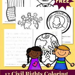 black history month free civil rights coloring pages and activity pack