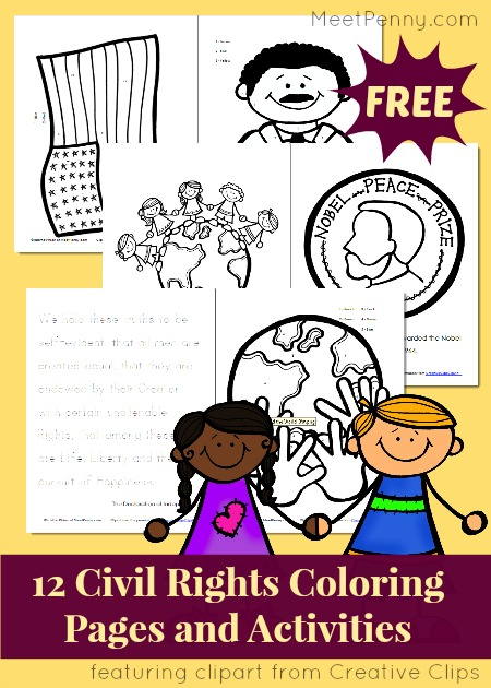 civil rights coloring and activity pages