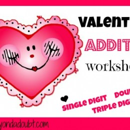Math Worksheets: Free Valentine's Addition Worksheets