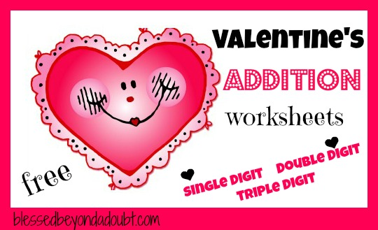 math worksheet : math worksheets free valentines addition worksheets  free  : Free Valentine Math Worksheets