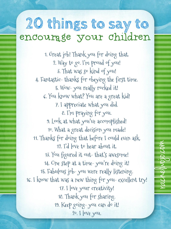 Something To Celebrate: Free Encourage Your Children Printable
