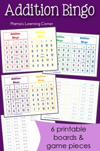 Free Printable Addition Bingo Worksheets | Free Homeschool ...