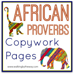 Free African Proverbs Copywork Pages