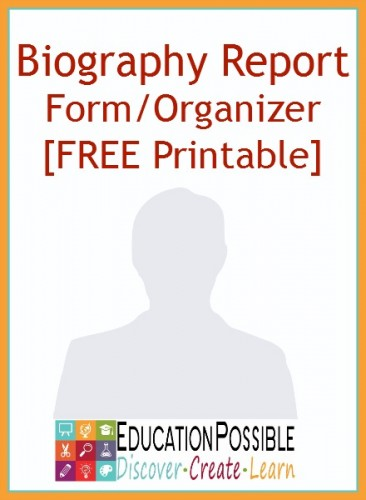 Free Biography Report Form/Organizer | Free Homeschool Deals ©