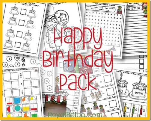 Birthday Printable Pack for PreK - 2nd