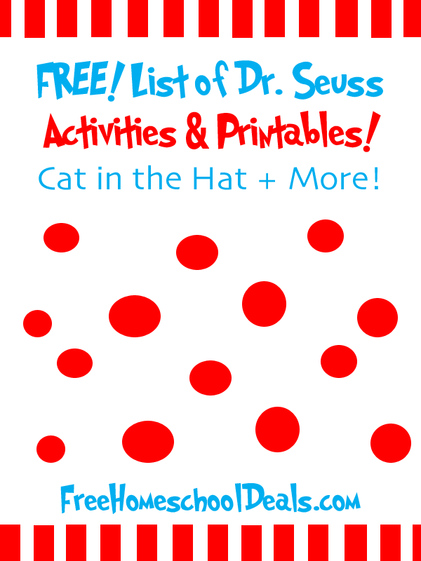 Learning With Dr Seuss 100 Free Dr Seuss Themed