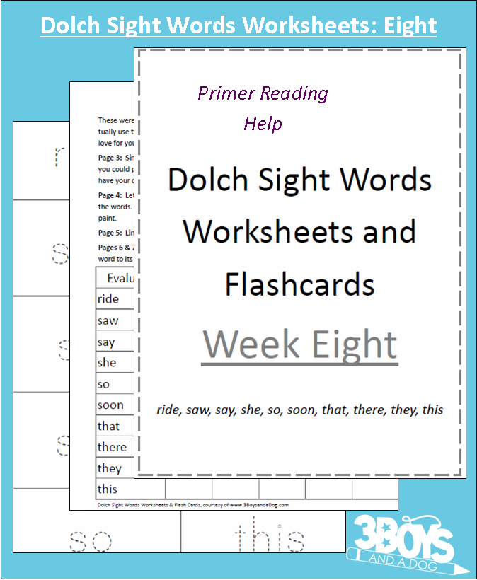 ... offering another set of Dolch Sight Words Worksheets and Flashcards