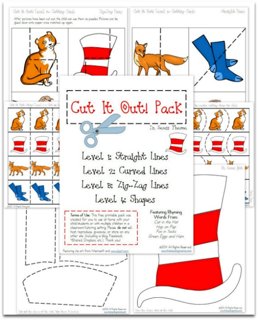 Free Dr Seuss Cut It Out Printables Pack Free