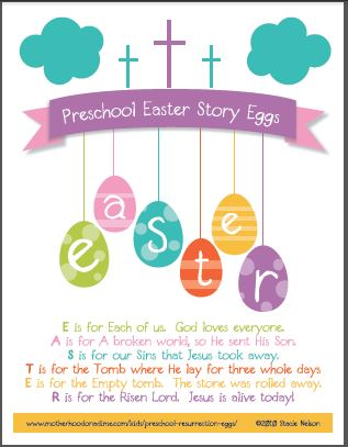 Easter Story Egg Poem