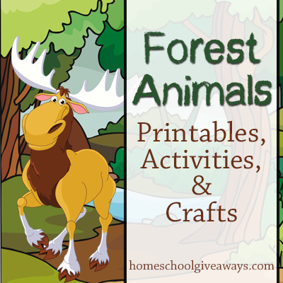 free forest animals printables activities and crafts free homeschool deals. Black Bedroom Furniture Sets. Home Design Ideas