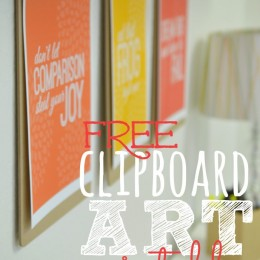 Free Clipboard Art Printables