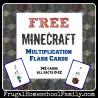 Free Minecraft Multiplication Cards
