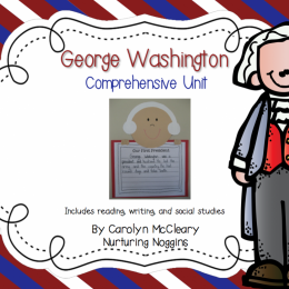 Free George Washington Comprehensive Unit Download