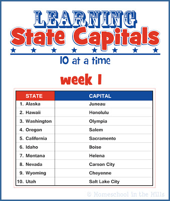 learning state capitals - State Printables