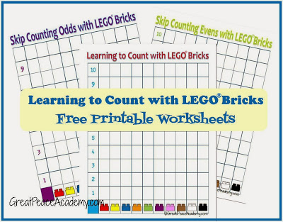 Learning to Count with LEGO printables