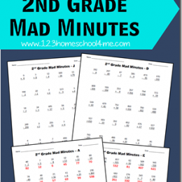 Free Math Games: 2nd Grade Mad Minutes