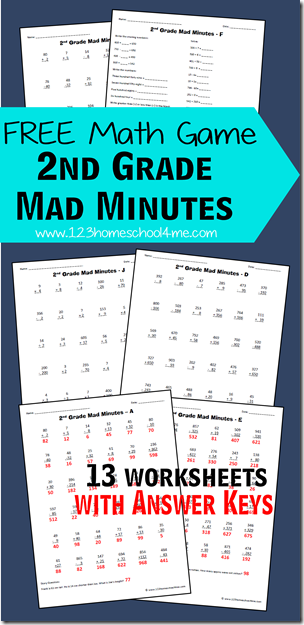 ... those math facts with a fun printable math game: Mad Minutes