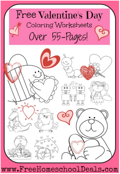 valentine 39 s day learning resources unit studies coloring pages science art more free. Black Bedroom Furniture Sets. Home Design Ideas
