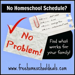 No Homeschool Schedule?  No Problem! Find What Works for your Family!