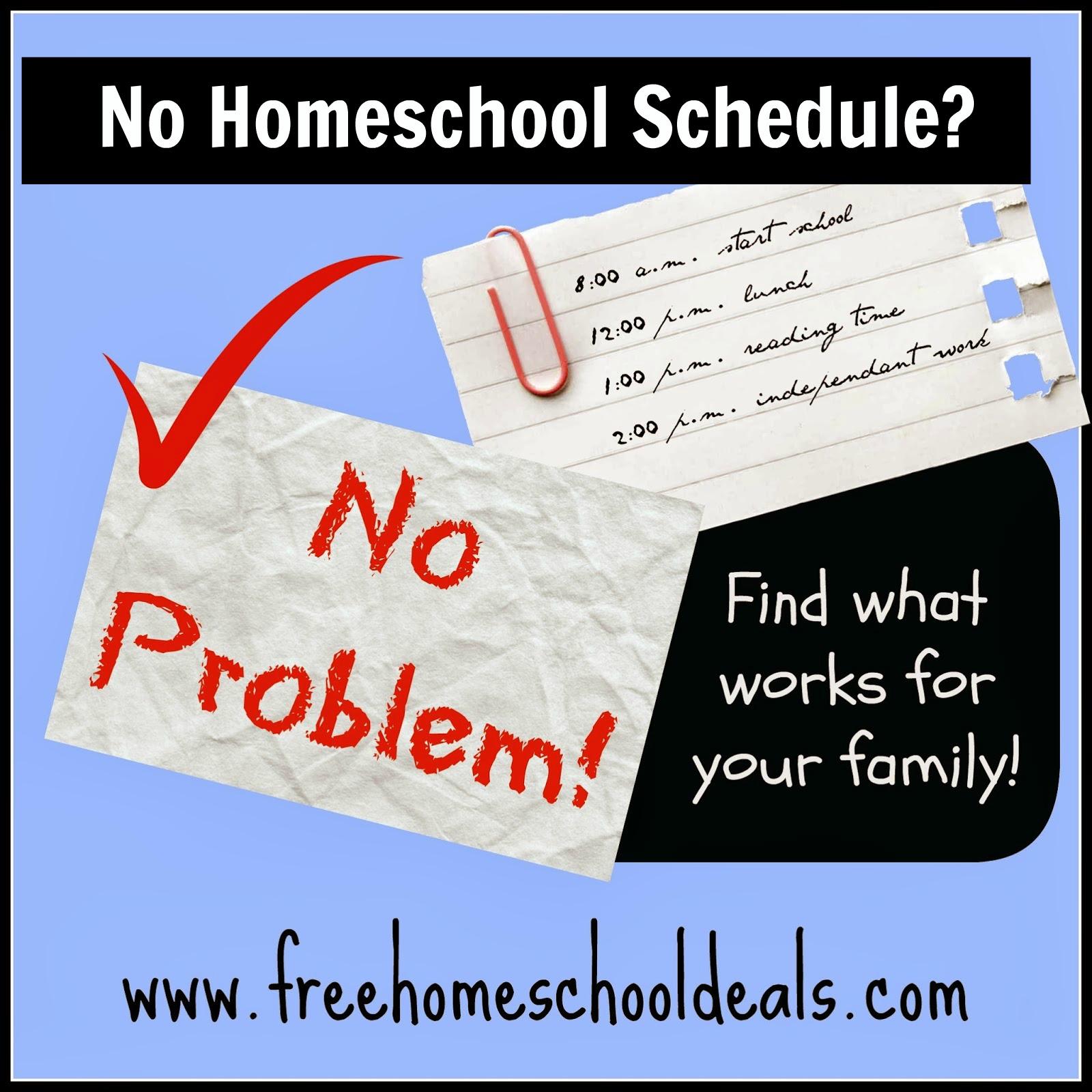 no homeschool schedule
