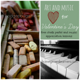Free Chalk Pastel & Music Appreciation Lesson Plans for Valentine's Day