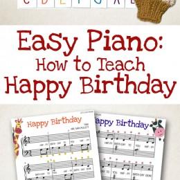 Easy Piano Music: How to Teach Happy Birthday