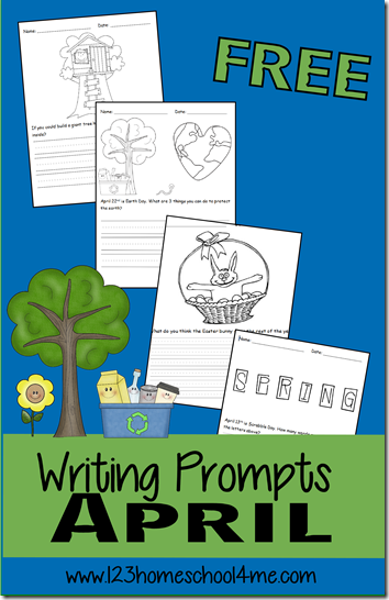 april writing prompts April writing prompts are a great way to get your students thinking and writing  this april themed set gives you plenty of options.
