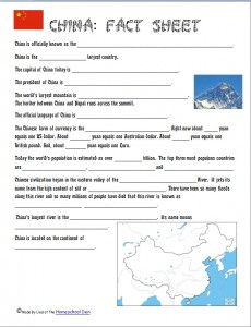 free china fact sheet free homeschool deals. Black Bedroom Furniture Sets. Home Design Ideas