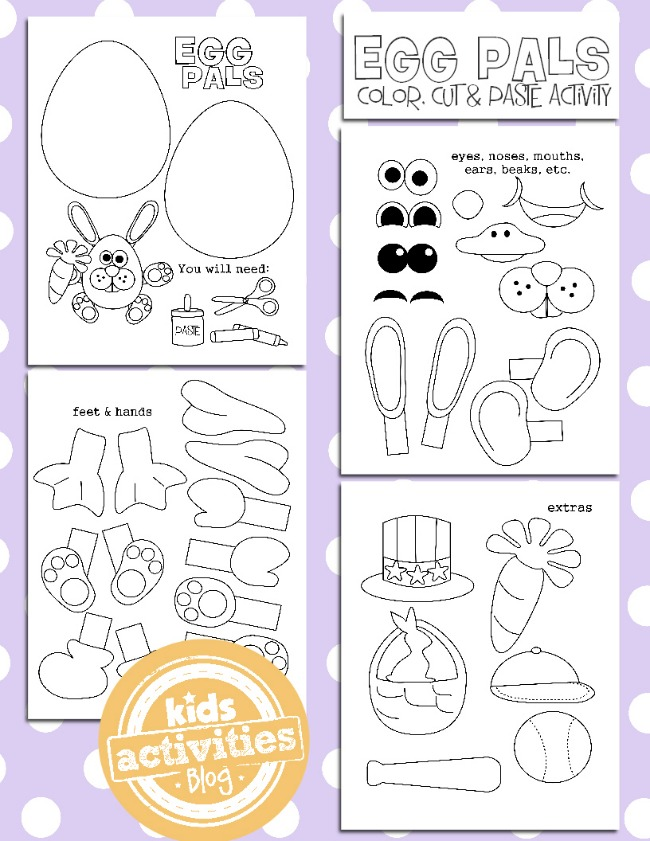 Fun Easter Worksheets : Free easter egg coloring pages homeschool deals