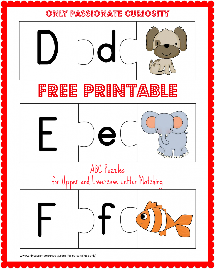 Worksheet Free Printable Alphabet Letters Upper And Lower Case free printable abc puzzles upper and lowercase letter matching puzzles