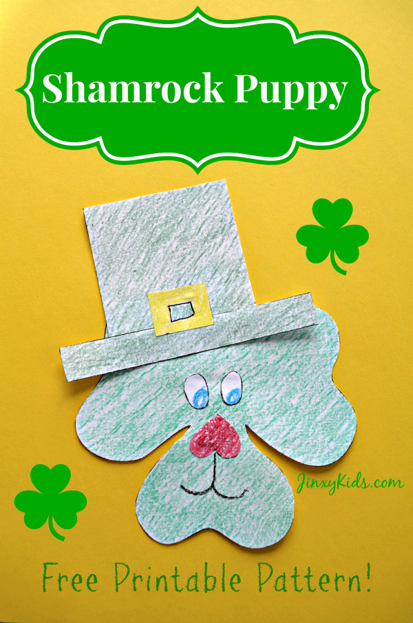 Free Printable Shamrock Puppy Craft