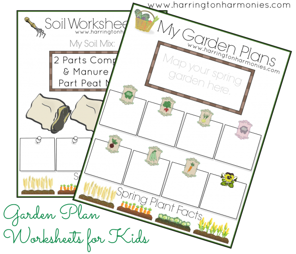 free mini garden planner for kids