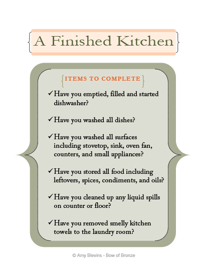 Kitchen Checklist free printable kitchen cleaning checklist for kids | free
