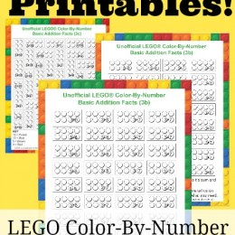 Free LEGO Color-By-Number Printables