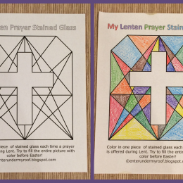 Free Lenten Prayer Printable Stained Glass Activity