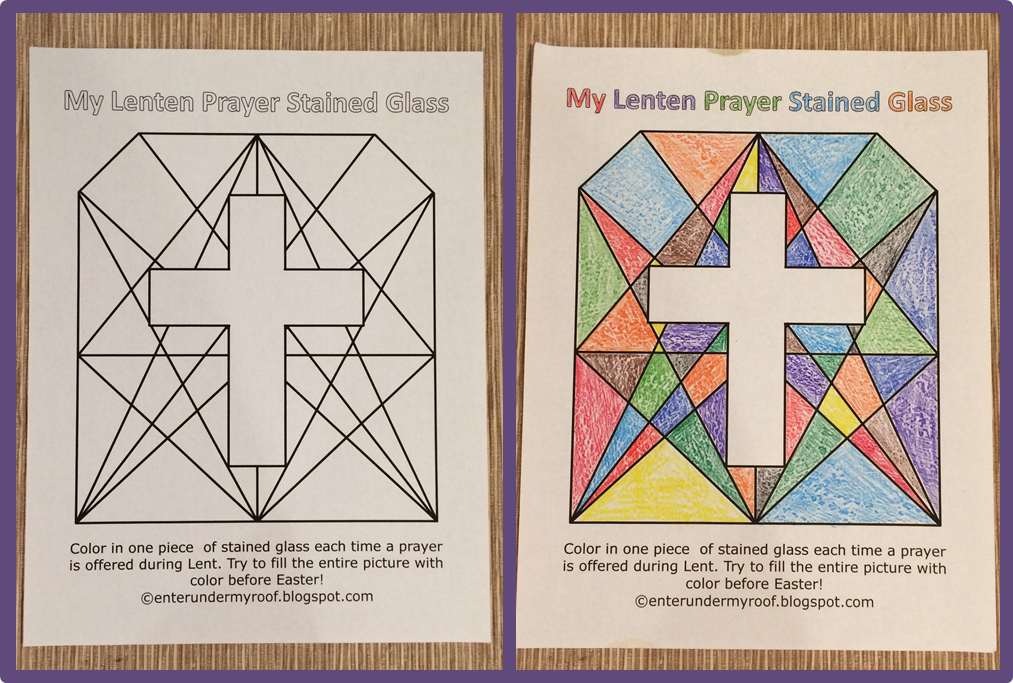 Free Lenten Prayer Printable Stained Glass Activity | Free ...
