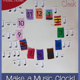 Free Music Clock: Free Printable Music Notes Included!