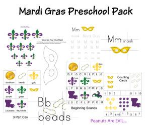 Mardi Gras Preschool Printable Pack