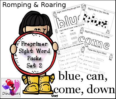Free Pre-primer Sight Words Packs Set 2 | Free Homeschool Deals ©