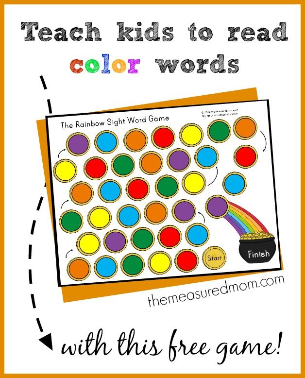 Free Printables The Rainbow Sight Word Game