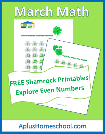 Shamrock Math Printable Even Numbers