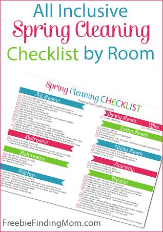 Spring Cleaning Checklist all-inclusive spring cleaning checklistroom - free! | free