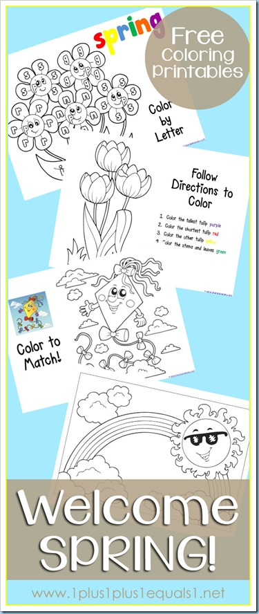 Free Spring Coloring Printables