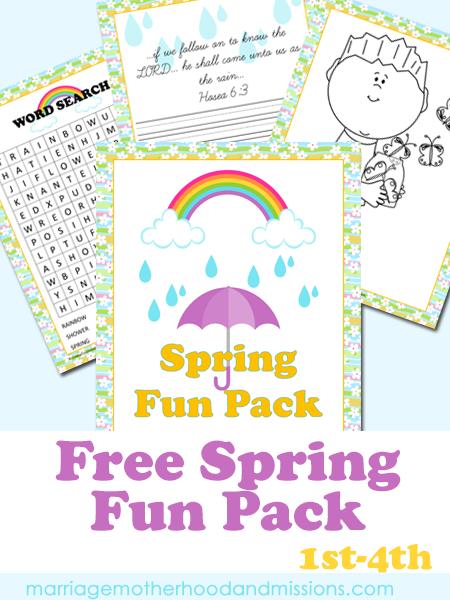 Free Spring Fun Printable Pack